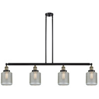 Innovations Lighting 214-BAB-S-G262 Stanton 4 Light 51 inch Black Antique Brass Island Light Ceiling Light Franklin Restoration