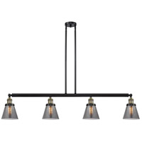 Innovations Lighting 214-BAB-S-G63-LED Small Cone LED 51 inch Black Antique Brass Island Light Ceiling Light Franklin Restoration