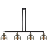 Innovations Lighting 214-BAB-S-G78 Large Bell 4 Light 53 inch Black Antique Brass Island Light Ceiling Light Franklin Restoration