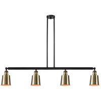 Innovations Lighting 214-BAB-S-M9-AB-LED Addison LED 50 inch Black Antique Brass Island Light Ceiling Light Franklin Restoration