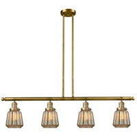 Chatham 4 Light 48 inch Brushed Brass Island Light Ceiling Light