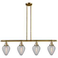 Innovations Lighting 214-BB-G165-LED Geneseo LED 52 inch Brushed Brass Island Light Ceiling Light Franklin Restoration