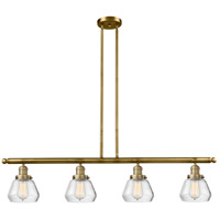 Innovations Lighting 214-BB-S-G172-LED Fulton LED 51 inch Brushed Brass Island Light Ceiling Light Adjustable