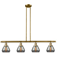Brushed Brass Fulton Island Lights