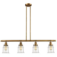 Canton 4 Light 51 inch Brushed Brass Island Light Ceiling Light, Adjustable
