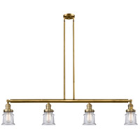 Innovations Lighting 214-BB-G182S-LED Small Canton LED 51 inch Brushed Brass Island Light Ceiling Light Franklin Restoration
