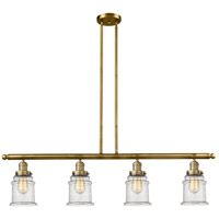 Brushed Brass Glass Canton Island Lights