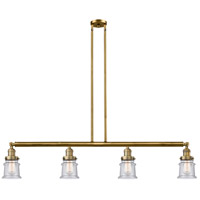 Innovations Lighting 214-BB-G184S-LED Small Canton LED 51 inch Brushed Brass Island Light Ceiling Light Franklin Restoration