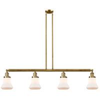 Innovations Lighting 214-BB-G191-LED Bellmont LED 51 inch Brushed Brass Island Light Ceiling Light Franklin Restoration