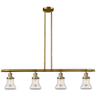 Innovations Lighting 214-BB-S-G192 Bellmont 4 Light 51 inch Brushed Brass Island Light Ceiling Light Adjustable
