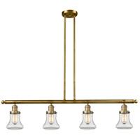Innovations Lighting 214-BB-S-G192 Bellmont 4 Light 51 inch Brushed Brass Island Light Ceiling Light Franklin Restoration