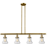 Innovations Lighting 214-BB-S-G194-LED Bellmont LED 51 inch Brushed Brass Island Light Ceiling Light Adjustable
