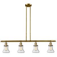 Innovations Lighting 214-BB-S-G194 Bellmont 4 Light 51 inch Brushed Brass Island Light Ceiling Light Franklin Restoration