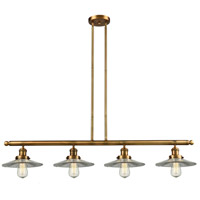 Innovations Lighting 214-BB-S-G2-LED Halophane LED 53 inch Brushed Brass Island Light Ceiling Light Adjustable