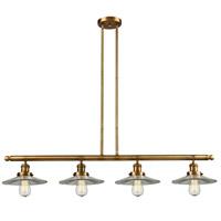 Innovations Lighting 214-BB-S-G2-LED Halophane LED 53 inch Brushed Brass Island Light Ceiling Light Franklin Restoration