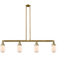 Innovations Lighting 214-BB-G311 Dover 4 Light 49 inch Brushed Brass Island Light Ceiling Light Franklin Restoration