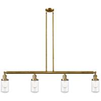 Innovations Lighting 214-BB-G312 Dover 4 Light 49 inch Brushed Brass Island Light Ceiling Light Franklin Restoration