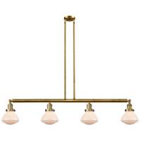Innovations Lighting 214-BB-G321-LED Olean LED 51 inch Brushed Brass Island Light Ceiling Light Franklin Restoration