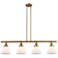 Innovations Lighting 214-BB-S-G41-LED Large Cone LED 52 inch Brushed Brass Island Light Ceiling Light Adjustable