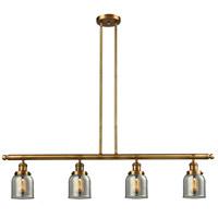 Innovations Lighting 214-BB-S-G53 Small Bell 4 Light 50 inch Brushed Brass Island Light Ceiling Light Franklin Restoration