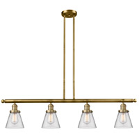 Innovations Lighting 214-BB-S-G62-LED Small Cone LED 51 inch Brushed Brass Island Light Ceiling Light Franklin Restoration