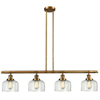 Innovations Lighting 214-BB-S-G72-LED Large Bell LED 53 inch Brushed Brass Island Light Ceiling Light Adjustable