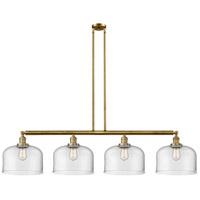 Innovations Lighting 214-BB-G72-L X-Large Bell 4 Light 54 inch Brushed Brass Island Light Ceiling Light Franklin Restoration