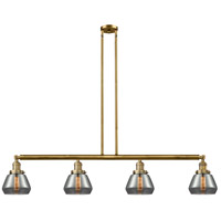 Innovations Lighting 214-BB-S-G173-LED Fulton LED 51 inch Brushed Brass Island Light Ceiling Light Franklin Restoration