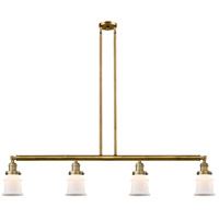Innovations Lighting 214-BB-S-G181S-LED Small Canton LED 51 inch Brushed Brass Island Light Ceiling Light Franklin Restoration