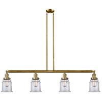 Innovations Lighting 214-BB-S-G182 Canton 4 Light 51 inch Brushed Brass Island Light Ceiling Light Franklin Restoration