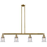Innovations Lighting 214-BB-S-G184S Small Canton 4 Light 51 inch Brushed Brass Island Light Ceiling Light Franklin Restoration