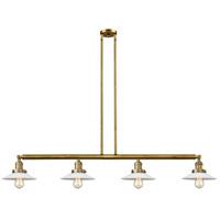 Innovations Lighting 214-BB-S-G1-LED Halophane LED 53 inch Brushed Brass Island Light Ceiling Light Franklin Restoration