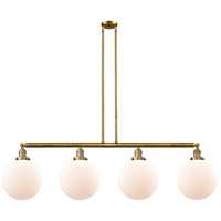 Innovations Lighting 214-BB-S-G201-10-LED X-Large Beacon LED 54 inch Brushed Brass Island Light Ceiling Light Franklin Restoration