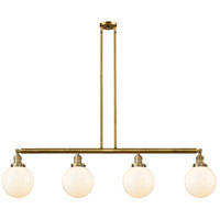 Innovations Lighting 214-BB-S-G201-8 Large Beacon 4 Light 53 inch Brushed Brass Island Light Ceiling Light Franklin Restoration