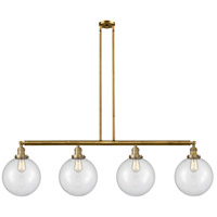 Innovations Lighting 214-BB-S-G202-10-LED X-Large Beacon LED 54 inch Brushed Brass Island Light Ceiling Light Franklin Restoration