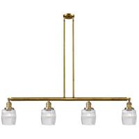 Innovations Lighting 214-BB-S-G302-LED Colton LED 50 inch Brushed Brass Island Light Ceiling Light Franklin Restoration