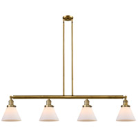 Innovations Lighting 214-BB-S-G41 Large Cone 4 Light 52 inch Brushed Brass Island Light Ceiling Light Franklin Restoration