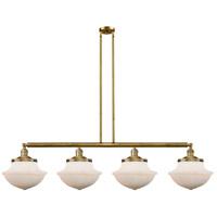Innovations Lighting 214-BB-S-G541 Large Oxford 4 Light 54 inch Brushed Brass Island Light Ceiling Light Franklin Restoration