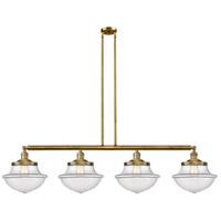 Innovations Lighting 214-BB-S-G542 Large Oxford 4 Light 54 inch Brushed Brass Island Light Ceiling Light Franklin Restoration