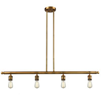 Signature 4 Light 48 inch Brushed Brass Island Light Ceiling Light