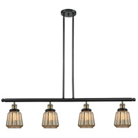 Chatham 4 Light 48 inch Black and Brushed Brass Island Light Ceiling Light