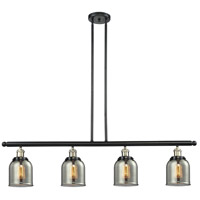 Innovations Lighting 214-BBB-G53 Signature 4 Light 48 inch Black and Brushed Brass Island Light Ceiling Light, Small, Bell photo thumbnail