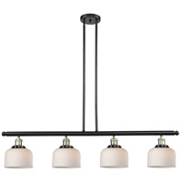 Innovations Lighting 214-BBB-G71 Signature 4 Light 48 inch Black and Brushed Brass Island Light Ceiling Light, Large, Bell photo thumbnail