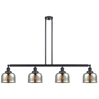 Innovations Lighting 214-BK-G78 Large Bell 4 Light 53 inch Matte Black Island Light Ceiling Light Franklin Restoration