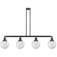 Innovations Lighting 214-BK-S-G204-8-LED Large Beacon LED 53 inch Matte Black Island Light Ceiling Light Franklin Restoration