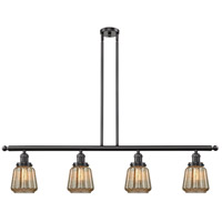 Chatham 4 Light 48 inch Oiled Rubbed Bronze Island Light Ceiling Light