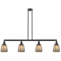 Innovations Lighting 214-OB-S-G146-LED Chatham LED 51 inch Oil Rubbed Bronze Island Light Ceiling Light Adjustable