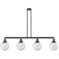 Innovations Lighting 214-OB-S-G204-8-LED Large Beacon LED 53 inch Oil Rubbed Bronze Island Light Ceiling Light Franklin Restoration