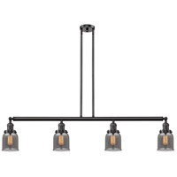 Innovations Lighting 214-OB-S-G53 Small Bell 4 Light 50 inch Oil Rubbed Bronze Island Light Ceiling Light Franklin Restoration