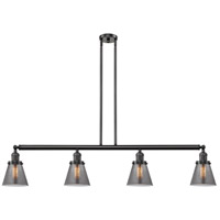 Innovations Lighting 214-OB-S-G63 Small Cone 4 Light 51 inch Oil Rubbed Bronze Island Light Ceiling Light Franklin Restoration